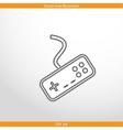 joystick web icon vector image vector image