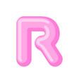 letter r candy font caramel alphabet lollipop vector image vector image