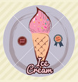 melting ice cream balls in the waffle cone vector image vector image