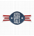 Memorial Day Sale Holiday Label vector image vector image