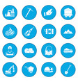 mining icon blue vector image vector image