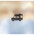 motorhome icon on blurred background vector image vector image