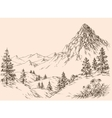 Nature in the mountains vector image