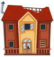 old house in red color vector image vector image