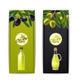 Olive oil vertical banners set vector image vector image