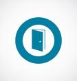 open door icon bold blue circle border vector image