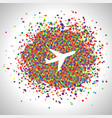 plane made by dots vector image