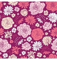 Purple pink flower silhouettes seamless pattern vector image vector image