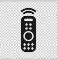 remote control icon in transparent style infrared vector image