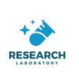 research laboratory logo symbol icon vector image vector image