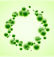 round background with green bubbles vector image vector image