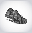 runner shoes design vector image vector image
