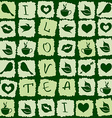 seamless pattern green tea puzzle vector image
