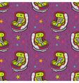 seamless pattern with baby car seat vector image vector image
