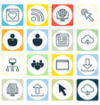 set of 16 online connection icons includes wifi vector image vector image