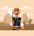 sheriff wild west vector image