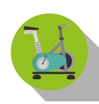 spinning bike machine isolated icon vector image vector image