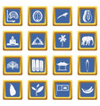 sri lanka travel icons set blue vector image vector image