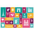symbols of france set of flat icons vector image