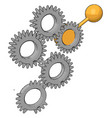 tooth gears on white background vector image vector image