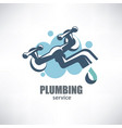water tap stylized symbol plumbing service logo vector image vector image