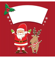 winter label with Santa Claus vector image