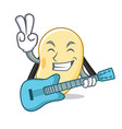 with guitar soy bean mascot cartoon vector image vector image