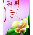 Woman with flower vector image vector image