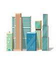 buildings modern city vector image
