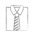 stylish folded shirt icon vector image