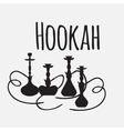Hookah labels and smoke logo Set of oriental vector image