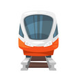 modern speed train - front view vector image