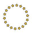 stars round ornament vector image