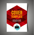 abstract report cover12 vector image vector image