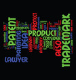 attorney trademark patent text background word vector image vector image