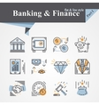 Banking and Finance icon vector image vector image