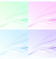 bright abstract swoosh wave layout collection vector image vector image