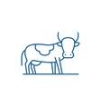 bull line icon concept bull flat symbol vector image vector image