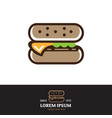 burger symbol outline style vector image