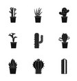 cactus plant icon set simple style vector image vector image
