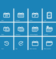 Calendar icons on blue background vector image vector image