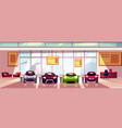 car showroom background auto dealership vector image vector image
