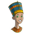 cartoon egyptian princess in traditional clothes vector image vector image