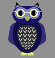 cartoon owl wearing glasses vector image