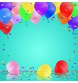 Celebrating background with colorful balloons vector image