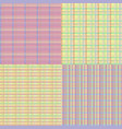 checkered seamless set vector image