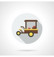 Coffee cart color round flat icon vector image vector image