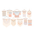 collection of macrame wall hangings bundle of vector image vector image