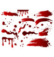 collection various blood or vector image vector image