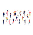 crowd young men and women holding smartphones vector image vector image